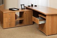 Bureau en bois Photographie stock