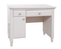 Bureau en bois blanc, avec le chemin de découpage Photo stock