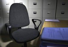 Bureau en stoel Stock Foto