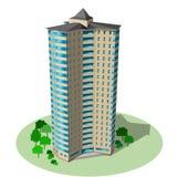Bureau en woonwolkenkrabber De vector isometrische bouw ISO stock illustratie