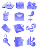 Bureau en zaken royalty-vrije illustratie