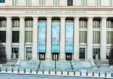 Bureau of Engraving and Printing with Cherry Blossom Banner Royalty Free Stock Photos
