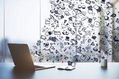 Bureau et concept de communication Image stock
