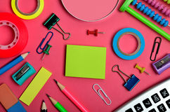 Bureau et fournitures scolaires Photo stock