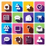 Bureau et icônes plates d'affaires pour le Web. illustration de vecteur