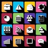 Bureau et icônes plates d'affaires pour le Web. illustration stock