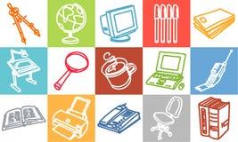 Bureau et objets Photographie stock