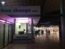 Bureau exempt d'impôt à l'aéroport Images libres de droits