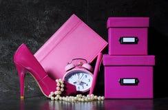 Bureau femelle rose de dames image libre de droits