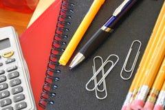 Bureau/fournitures scolaires Photo stock