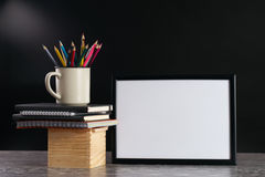 Bureau, fournitures scolaires Photos stock