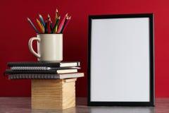 Bureau, fournitures scolaires Photo libre de droits
