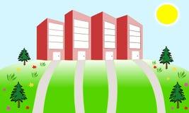 Bureau-gebouwen vector illustratie