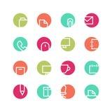 Bureau gekleurde pictogramreeks Royalty-vrije Stock Foto