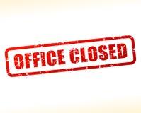 Bureau gesloten als buffer opgetreden voor tekst vector illustratie