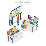Bureau Ind intérieur de réunion de présentation de Coworking Image libre de droits
