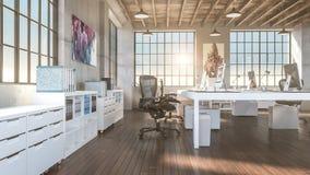 Bureau industriel de style Photographie stock