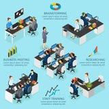 Bureau Infographics isométrique illustration stock