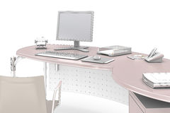 Bureau  - isolaed on white Royalty Free Stock Images