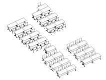 Bureau isométrique d'ensemble intérieur Images stock