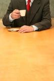 Bureau: koffie tijd Stock Fotografie
