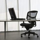 Bureau met computer. Stock Afbeelding