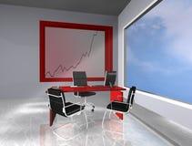 Bureau met grafisch Royalty-vrije Stock Afbeelding
