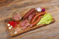 Bureau met groenten Stock Afbeelding
