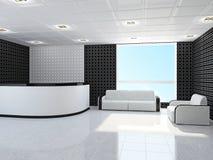 Bureau met meubilair vector illustratie