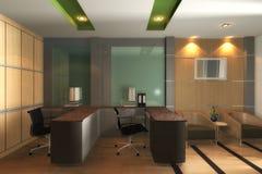 Bureau moderne 3D intérieur Image libre de droits