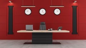 Bureau moderne rouge et noir illustration stock illustration du