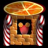 Bureau orange character Royalty Free Stock Photography