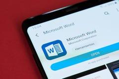 Bureau ouvert de Microsoft Word photo libre de droits