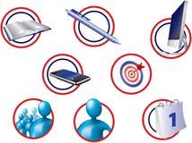 Bureau-pictogrammen Royalty-vrije Stock Foto's