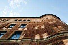 Bureau postal Stockholm Suède de vieille brique Photo stock