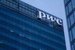 Bureau principal de PWC Pricewaterhousecoopers pour le Canada à Toronto Photos libres de droits