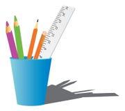 Bureau of school supplys vector illustratie