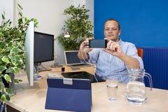 Bureau Selfie Royalty-vrije Stock Afbeelding