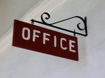 Bureau uitstekend teken Stock Afbeelding