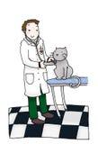 Bureau vétérinaire illustration libre de droits