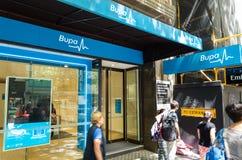 Bureau van de Bupa het privé ziektekostenverzekering in Melbourne stock foto