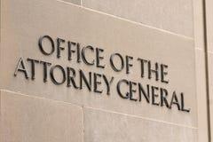 Bureau van de Procureur Algemeen Sign stock foto's