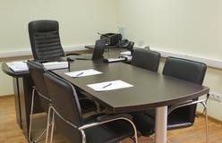 Bureau van een manager, klaar voor vergadering Stock Foto