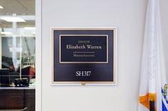 Bureau van Verenigde Staten Senator Elizabeth Warren stock fotografie