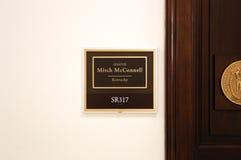 Bureau van Verenigde Staten Senator Mitch McConnell stock fotografie