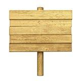 Bureau vide en bois sur le bâton Images libres de droits