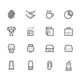 Bureau zwart die pictogram op witte achtergrond wordt geplaatst Royalty-vrije Stock Afbeelding