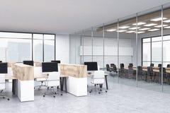 Bureaucellen en conferentieruimte Stock Foto