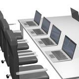 bureaucomputer Stock Afbeelding