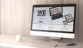 bureaucomputer die wij hebben ontworpen Royalty-vrije Stock Afbeeldingen